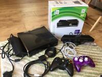 Xbox 360, Kinect, 2 controllers and games