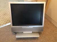 """LCD tv 15"""" for sale television with stand £20 Ventura bedroom / kitchen tv"""