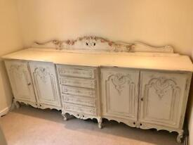 French Carved Oak Sideboard.