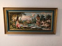 Tapestry Picture Framed