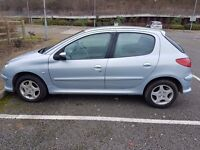 2006 PEUGEOT 206 1.4 VERVE PETROL MANUAL 5 DOOR 2 OWNERS 110K WITH F/S/H IN V/GOOD CONDITION