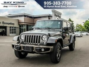 2016 Jeep WRANGLER UNLIMITED SAHARA 4X4, GPS NAV, BLUETOOTH, REM