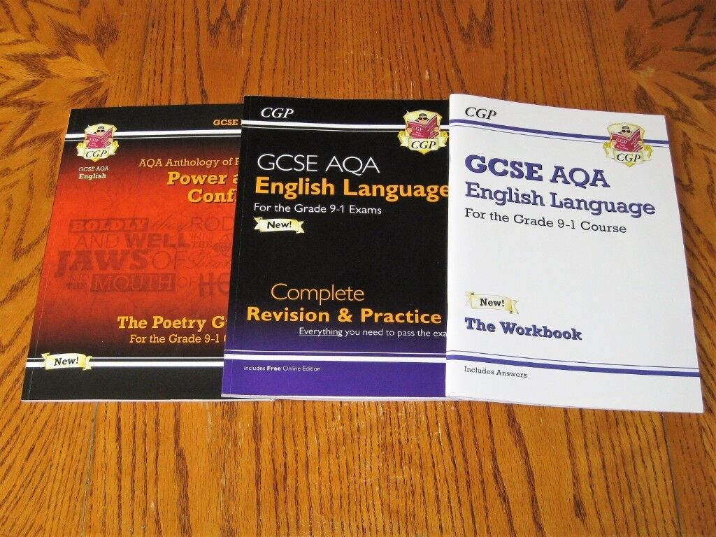 CGP GCSE English Language Revision Guides & Workbook AQA Grades 9-1 Course  | in Glossop, Derbyshire | Gumtree