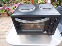 30L Black Mini Kitchen Oven and Hob (1440W) …by Coopers of Stortford- Brand New Unused