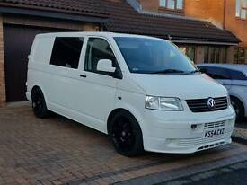 Vw T5 Transporter 6 seats fsh carpeted, insulated 19s Vmaxx Coilovers many extras ac Elec pack