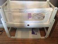 Barely used Snuzpod with 2x mattress protector (one unopened)