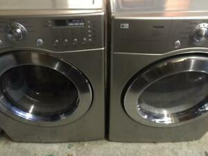 86- Laveuse Sécheuse Frontales  LG PLATINES / PLATINUM  Frontload Washer Dryer