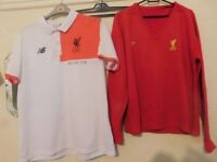 TWO LIVERPOOL FC TOPS SIZE L/XL