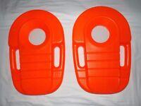 Two Orange Plastic Swim Floats