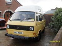 VW T25 Campervan 1981 Aircooled - Great Camper - £100's worth of spares collected