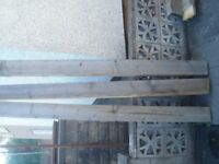 strong timber posts 15 in total