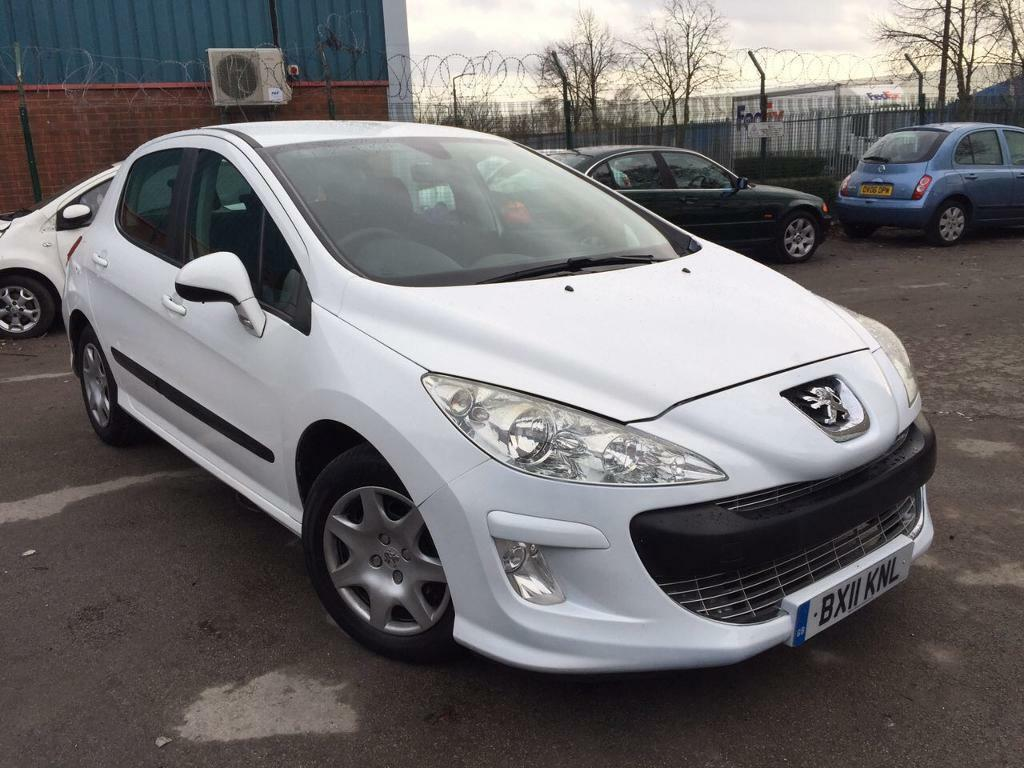 2011 peugeot 308 s 1 6 hdi 5dr facelift model in white cheap tax cat c in sandwell west. Black Bedroom Furniture Sets. Home Design Ideas