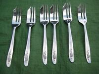 6 Unused Stainless Steel Pastry Forks for £2.00