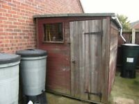 Garden Shed 6ft x 8ft Fair Condition. Free. Buyer to dismantle and take away.