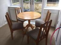 Good condition table and chairs, barely used