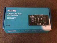 Sound Lab 4 Channel Mini Mixer