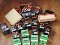 A job lot of Coopers and Crosland Oil & Air Filters