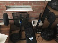 Weight bench end weights