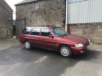 1997 Ford Escort Estate - 1.8, red, MOT December 16, good condition for age