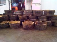 Large Whisky Barrel Planters