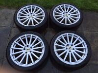 "18"" Alloy Wheels and Tyres Ford Focus RS Sport"