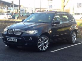 2008 (Sep 58) BMW X5 3.0 SD M SPORT - 5 Doors - AUTO - DIESEL - BLACK *TOP SPEC - PAN ROOF - FSH*