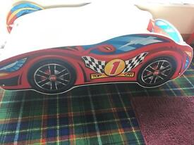 Kids Racing Car Bed - never used