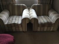 2 Collins and Hayes Armchairs for free - collect today