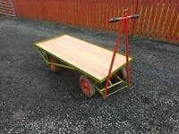 5x2.5 turntable boggy trailer can be towed or hand pulled