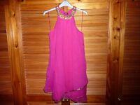 Prophecy fuchsia pink chiffon dress in size XS