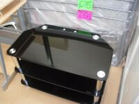 BLACK GLASS TV STAND - NEW LOWER PRICE (WAS £25)
