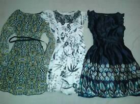 3 colorful dresses- size 10 - 12