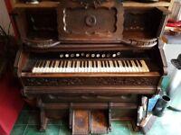 Antique pedal harmonium