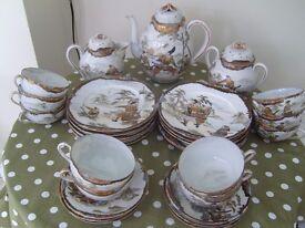 Genuine Chinese hand painted Porcelain tea set