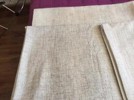 Hessian lined curtains