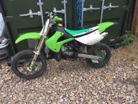 Kx85 motorcross bike