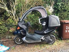 BMW C1 with only 11,487 miles on the clock and a fresh MoT in May 18.