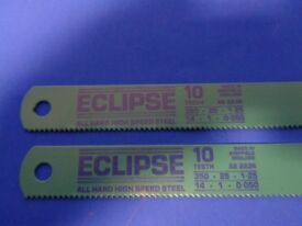Eclipse Pair of Machine Hacksaw Blades 350- 25- 1.25 10 Teeth New Unused