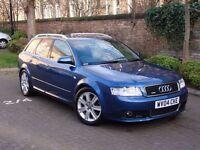 EXCELLENT LOOKS!!! 2004 AUDI A4 1.8 T AVANT, 6 SPEED 190 BHP SPORT 5dr, LONG MOT WARRANTY