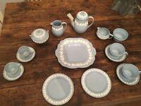 Wedgwood Embossed Queensware Coffee/Tea Set