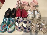 8 pairs of toddlers shoes