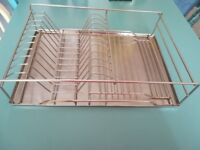 Stainless steel wash up rack / drainer.
