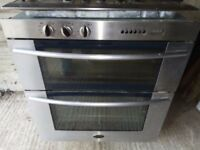 70cm Prochef Freestanding built-in electric double oven + IKEA Whirlpool gas Hob G33/s