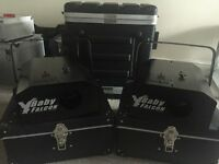 2 x Acme Baby Falcon DJ lighting effects with cases : REDUCED FOR QUICK SALE