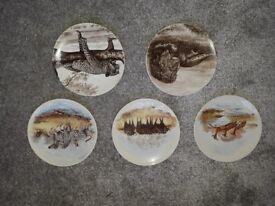 5 Poole pottery pltes