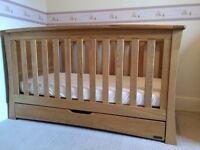 Mamas and Papas Ocean Golden Oak Nursery Set: Cot Bed, Drawers, Wardrobe