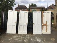 4 X Vintage pine doors