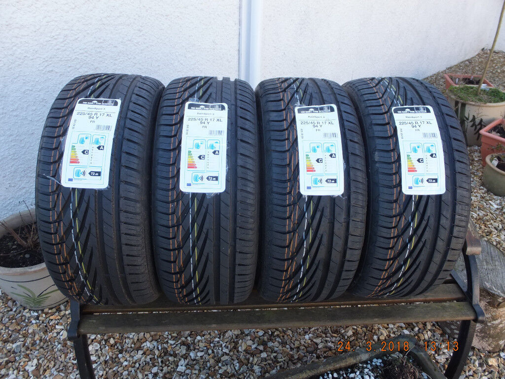 4x new uniroyal rainsport 3 225 45 r17 94y xl tyres in arbroath angus gumtree. Black Bedroom Furniture Sets. Home Design Ideas