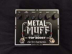 Electro Harmonix Metal Muff Distortion with Top Boost Electric Guitar Pedal