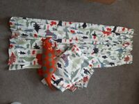 John Lewis dinosaur blackout curtains and toy